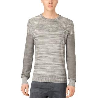 Calvin Klein CK Knit Crewneck Sweater XX-Large Platinum Gray Melange - 2XL