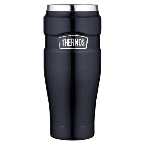 Thermos Vacuum Insulated Stainless King Travel Tumbler, Midnight Blue, 16 Ounces - 16 oz