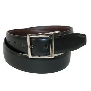 Dockers Boy's Square Center Bar Reversible Belt - black to brown