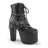 Demonia Women's Torment 700 Ankle Boot Black Vegan Leather