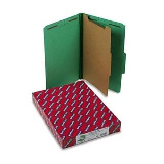 Pressboard Classification Folders Legal 4-Section Green 10/box