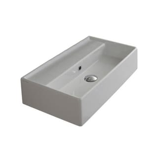 "Nameeks 5001 Scarabeo Teorema 16-1/8"" Ceramic Wall Mounted / Vessel Bathroom Sink with 1 / 3 Holes Drilled - Includes Overflow"