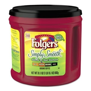 Folgers Coffee 20513 31.1 oz. Simply Smooth Coffee Canister
