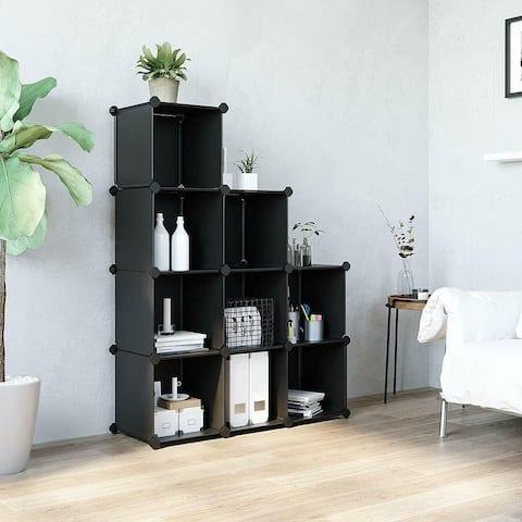 Kanstar Storage Cube Organizer DIY Closet Cabinet Chests Space-Saving White 6 Cube