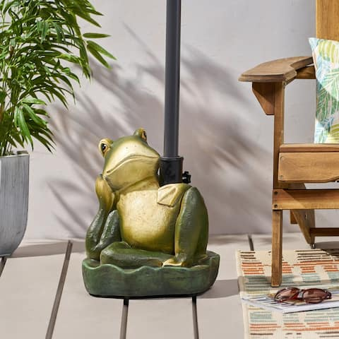 "Fenimore Frog Umbrella Base by Christopher Knight Home - 14.00"" W x 13.00"" L x 15.50"" H"