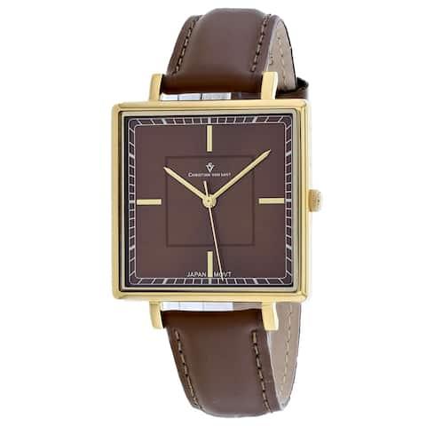 Christian Van Sant Women's Callista Brown Dial Watch - CV0416 - One Size