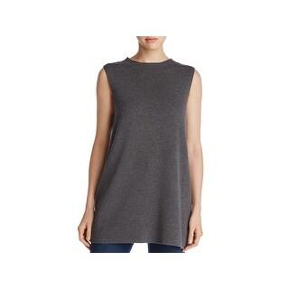 Eileen Fisher Womens Tunic Sweater Crepe Sleeveless - pp/ps