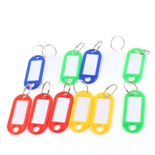 Unique Bargains 12 Pcs Plastic ID Card Keyring Name Tag Badge Clip Holder Office Students Stationery Assorted Color
