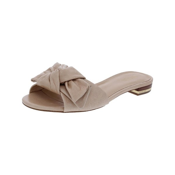 MICHAEL Michael Kors Womens Willa Slide Sandals Leather Open Toe