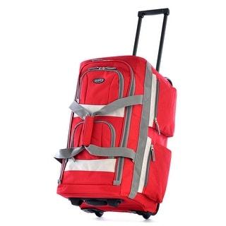 """Olympia Luggage 26"""" 8 Pocket Rolling Duffel Bag"""