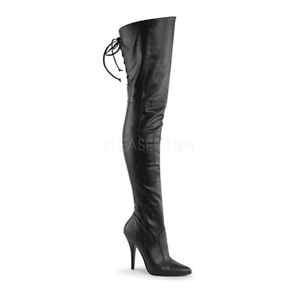 Pleaser Women's Legend 8899 Black Faux Leather