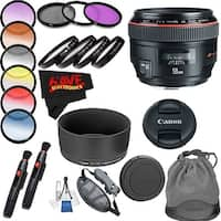Canon EF 50mm f/1.2L USM Lens International Version (No Warranty) Professional Accessory Combo