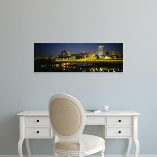 Easy Art Prints Panoramic Images's 'Buildings Lit Up At Dusk, Memphis, Tennessee, USA' Premium Canvas Art