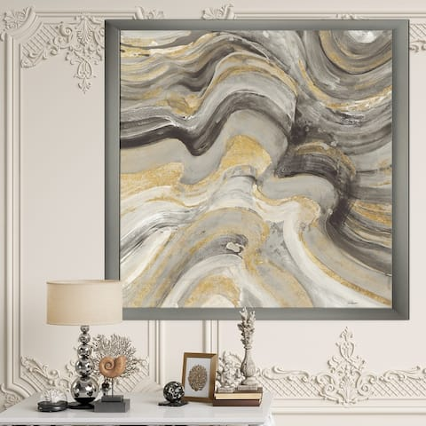 Designart 'Glam Gold Canion' Modern & Transitional Framed Art Print