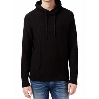 American Rag NEW Black Men Size XL Mix Stitch Funnel Neck Sweater