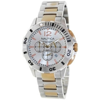 Nautica Men's Bfd 101 N27525G Silver Stainless-Steel Quartz Fashion Watch