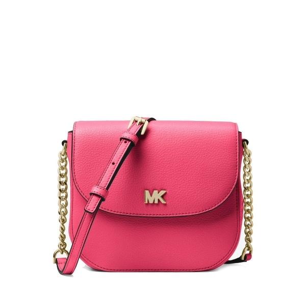 2d8057911c4f75 Shop MICHAEL Michael Kors Half Dome Leather Crossbody Bag Rose Pink ...