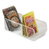 InterDesign 54930 Linus Pack Place Organizer Bin, Clear