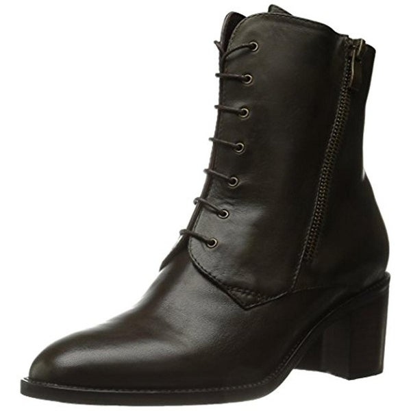 Everybody Womens Sage Ankle Boots Leather Round Toe