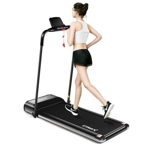 Gymax 450W Ultra-thin Electric Folding Treadmill Motorized Running