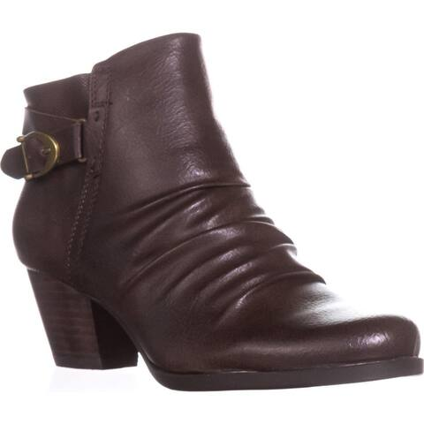 BareTraps Reliance Srunch Ankle Boots, Dark Brown