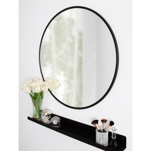 "Kate and Laurel Caskill Round Framed Wall Mirror - 30"" Diameter"