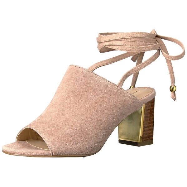 ADRIENNE VITTADINI Footwear Women's Panak Heeled Sandal, Cashew, Size 11.0