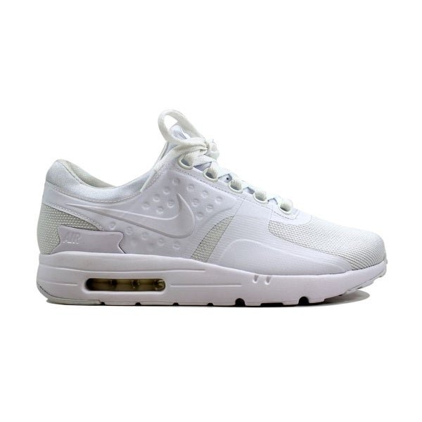 d66a81e292 Shop Nike Men's Air Max Zero Essential White/White-Wolf Grey 876070 ...