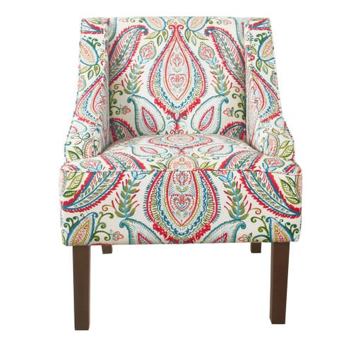 HomePop Classic Swoop Accent Chair - Bold Paisley