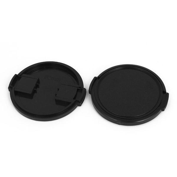 62mm Dia Vintage Style Plastic Front Snap Digital Camera Lens Cap Protector 2Pcs