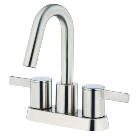 Gerber Amalfi Two Handle Centerset Lavatory Faucet, 1.2gpm D301130BN Brushed Nickel - Brushed Nickel