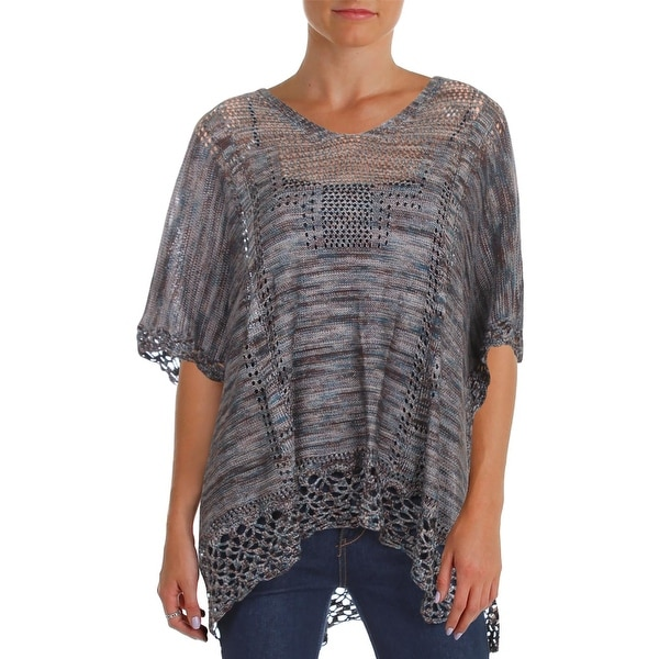Shop Democracy Womens Poncho Sweater Casual V-Neck - Free Shipping On  Orders Over  45 - Overstock.com - 23051536 f2a99ec62