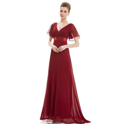 Ever-Pretty Womens Glamorous double V-neck Evening Dress 09890