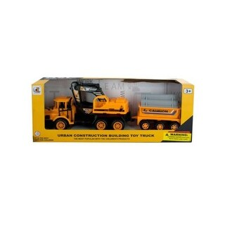 12.5 x 2.75 in. Friction Powered Excavator Trailer Truck, 12
