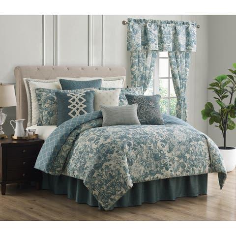 Rose Tree Clarissa Toile Floral Comforter Set