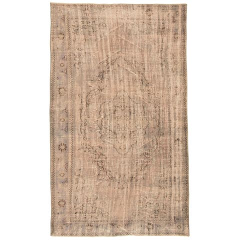 ECARPETGALLERY Hand-knotted Color Transition Grey, Tan Wool Rug - 6'0 x 10'4