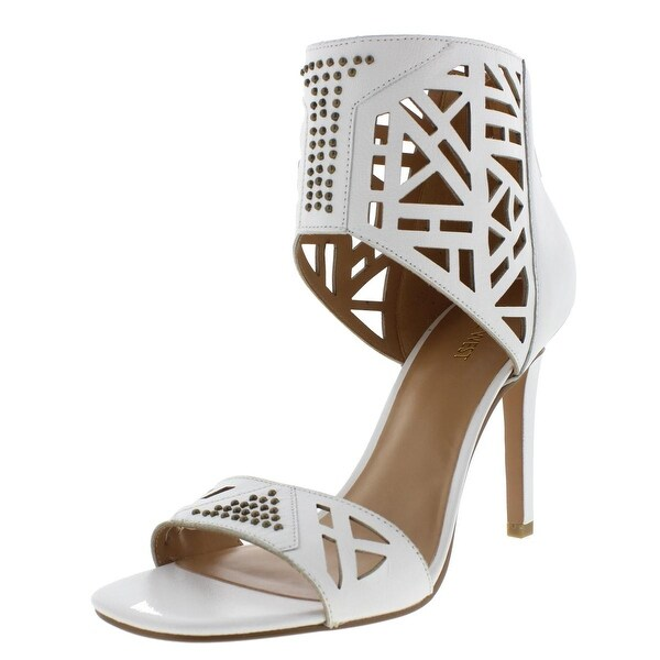 Nine West Womens Karabee Dress Sandals Leather Cut-Out