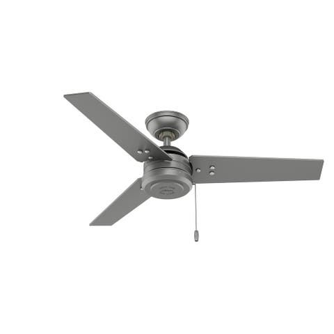 """Hunter 44"""" Cassius Outdoor Ceiling Fan with Pull Chain"""
