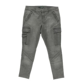 LRL Lauren Jeans Co. Womens Skinny High Waist Cargo Jeans