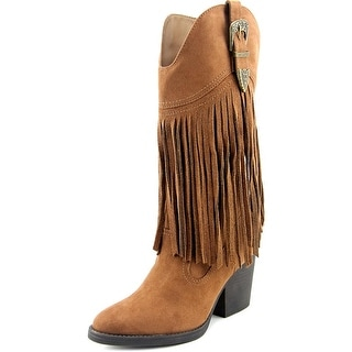 Madden Girl Ranglee Women Pointed Toe Synthetic Tan Western Boot