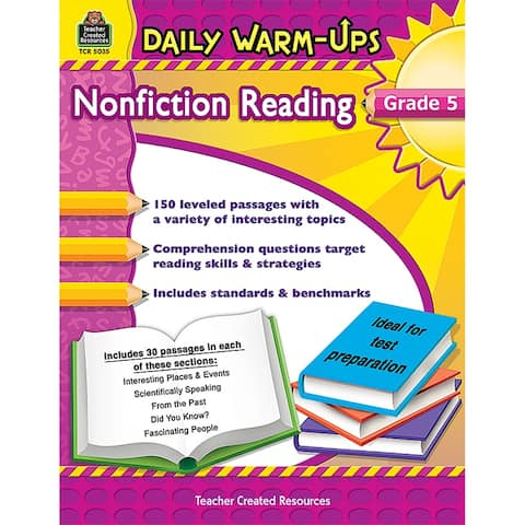 Daily Warm Ups Gr 5 Nonfiction Reading
