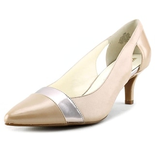 Anne Klein First Class Pointed Toe Patent Leather Heels