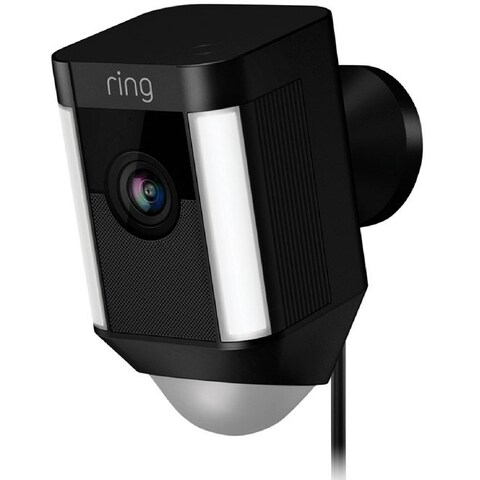Ring 8SH1P7-BEN0 Spotlight Cam Wired Outdoor Rectangle Security Camera, Black