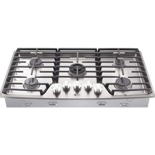 LG LSCG367 36 Inch Wide Built-In Gas Cooktop with Dual Stacked UltaHeat Burner