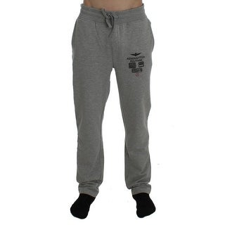 Aeronautica Militare Gray Cotton Stretch Pants