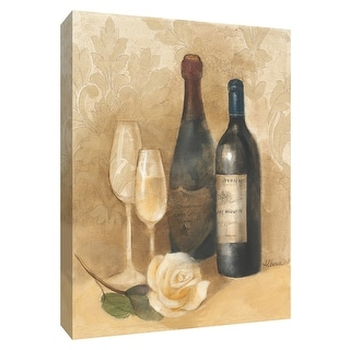 """PTM Images 9-154461  PTM Canvas Collection 10"""" x 8"""" - """"Damask Wine II"""" Giclee Wine Art Print on Canvas"""