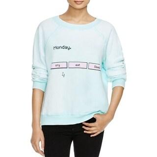 Wildfox Couture Womens Crewneck Sweater Graphic Crewneck
