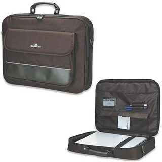 Empire Black Polyester Leather Topload Briefcase Fits Up To 17In