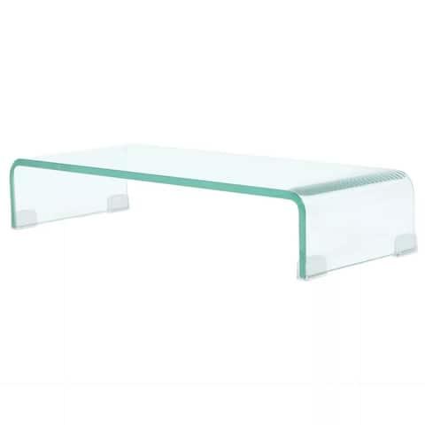 "vidaXL TV Stand / Monitor Riser Glass Clear 23.6""x9.8""x4.3"""
