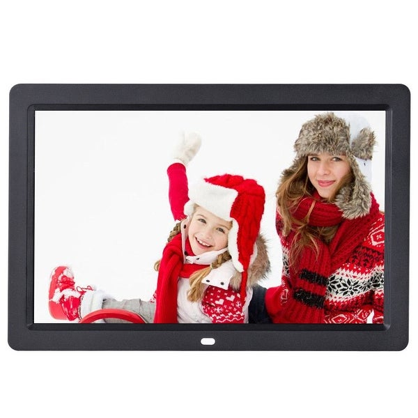 Costway 12'' IPS LCD Digital Photo Frame Calendar Clock Function MP3 Photo Video w Remote